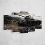 World of Tanks 22 - 5 Piece Canvas Wall Art Gaming Canvas