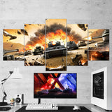 World of Tanks 23 - 5 Piece Canvas Wall Art Gaming Canvas