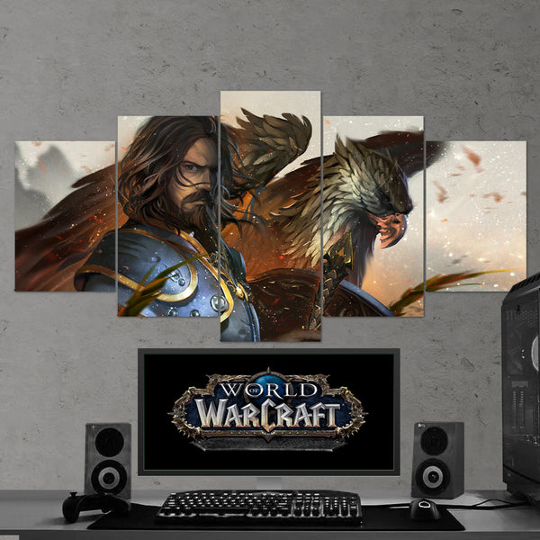WOW - World of Warcraft 01 - 5 Piece Canvas Wall Art Gaming Canvas