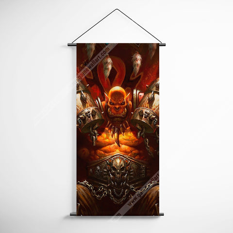 WOW - World of Warcraft 02 Orgrim Doomhammer Decorative Banner Flag for Gamers