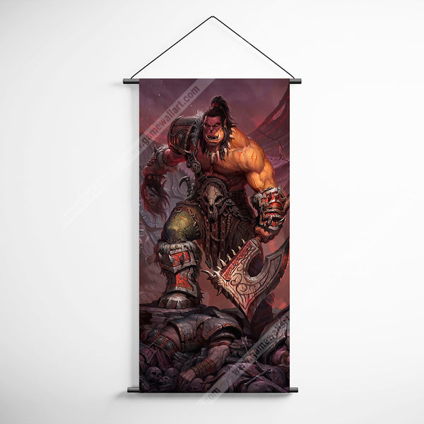 WOW - World of Warcraft 03 Garrosh Hellscream Decorative Banner Flag for Gamers