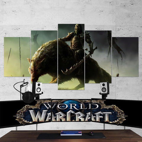 WOW - World of Warcraft 06 - 5 Piece Canvas Wall Art Gaming Canvas