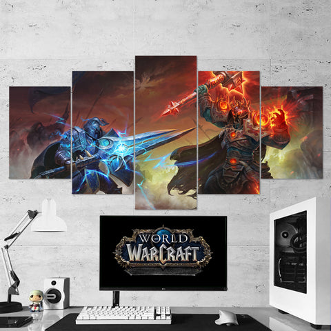 WOW - World of Warcraft 07 - 5 Piece Canvas Wall Art Gaming Canvas