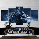 WOW - World of Warcraft 08 Lich King 5 Piece Canvas Wall Art Gaming Canvas