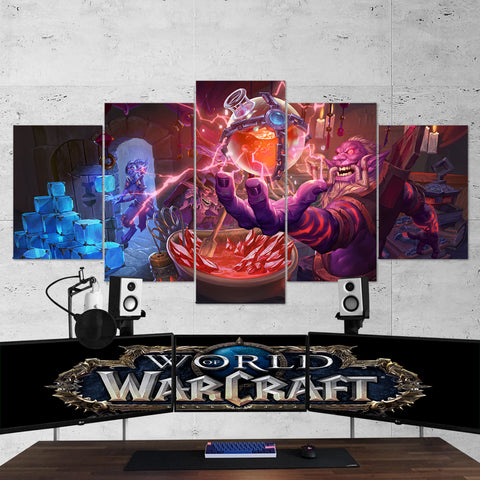WOW - World of Warcraft 12 5 Piece Canvas Wall Art Gaming Canvas