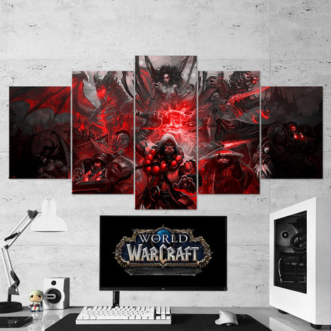 WOW - World of Warcraft 13 5 Piece Canvas Wall Art Gaming Canvas