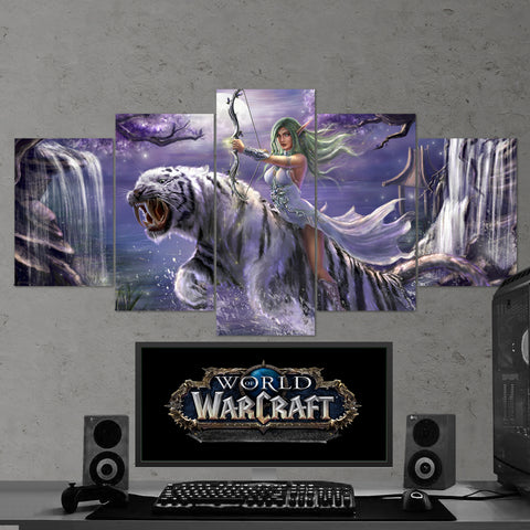 WOW - World of Warcraft 16 - 5 Piece Canvas Wall Art Gaming Canvas