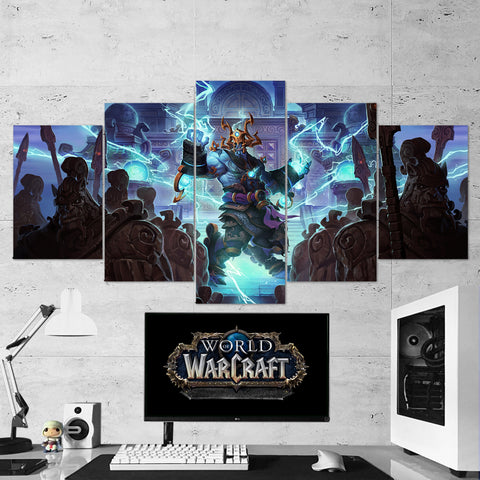WOW - World of Warcraft 19 Thunder King 5 Piece Canvas Wall Art Gaming Canvas