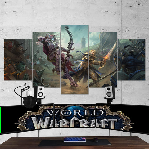 WOW - World of Warcraft 20 Battle for Azeroth 5 Piece Canvas Wall Art Gaming Canvas
