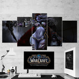 WOW - World of Warcraft 23 Sylvanas Windrunner 5 Piece Canvas Wall Art Gaming Canvas