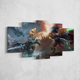 WOW - World of Warcraft 26 Artwork 5 Piece Canvas Wall Art Gaming Canvas