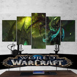 WOW - World of Warcraft 27 Illidan Stormrage 5 Piece Canvas Wall Art Gaming Canvas