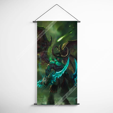 WOW - World of Warcraft 27 Illidan Stormrage Decorative Banner Flag for Gamers