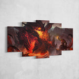 WOW - World of Warcraft 32 Deathwing - Shaman Thrall 5 Piece Canvas Wall Art Gaming Canvas