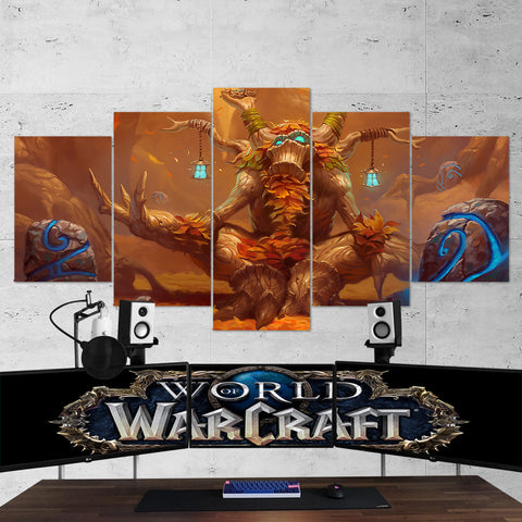 WOW - World of Warcraft 33 Ancient of Lore 5 Piece Canvas Wall Art Gaming Canvas