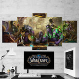 WOW - World of Warcraft 34 Heroes of the Storm 5 Piece Canvas Wall Art Gaming Canvas