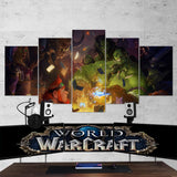 WOW - World of Warcraft 35 - 5 Piece Canvas Wall Art Gaming Canvas