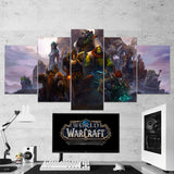 WOW - World of Warcraft 36 - 5 Piece Canvas Wall Art Gaming Canvas