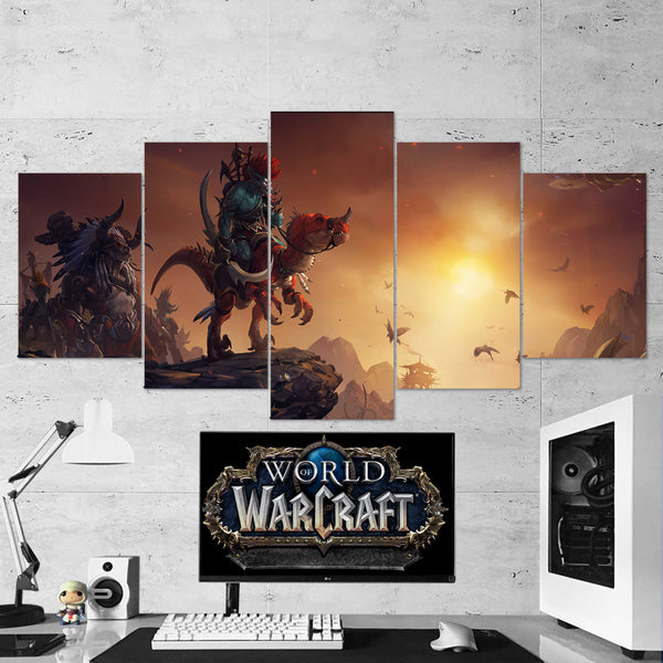 WOW - World of Warcraft 39 Voljin 5 Piece Canvas Wall Art Gaming Canvas