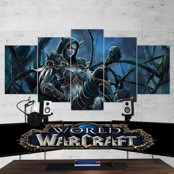 WOW - World of Warcraft 42 - 5 Piece Canvas Wall Art Gaming Canvas