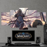WOW - World of Warcraft 48 Battle for Azeroth - Slyvanas Windrunner 5 Piece Canvas Wall Art Gaming Canvas