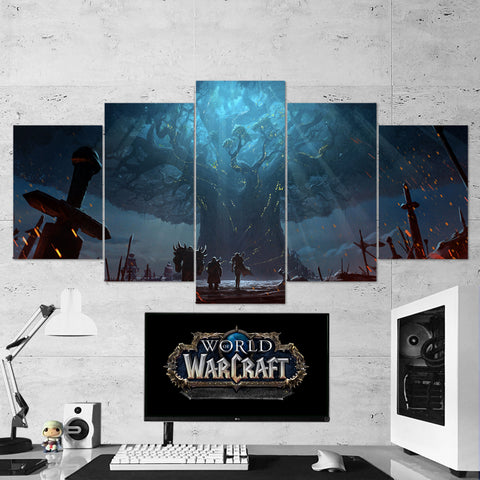 WOW - World of Warcraft 49 Teldrassil 5 Piece Canvas Wall Art Gaming Canvas