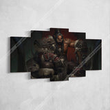 WOW - World of Warcraft 51 Grommash Hellscream 5 Piece Canvas Wall Art Gaming Canvas
