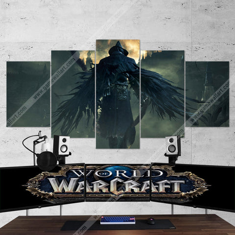 WOW - World of Warcraft 53 Medivh 5 Piece Canvas Wall Art Gaming Canvas