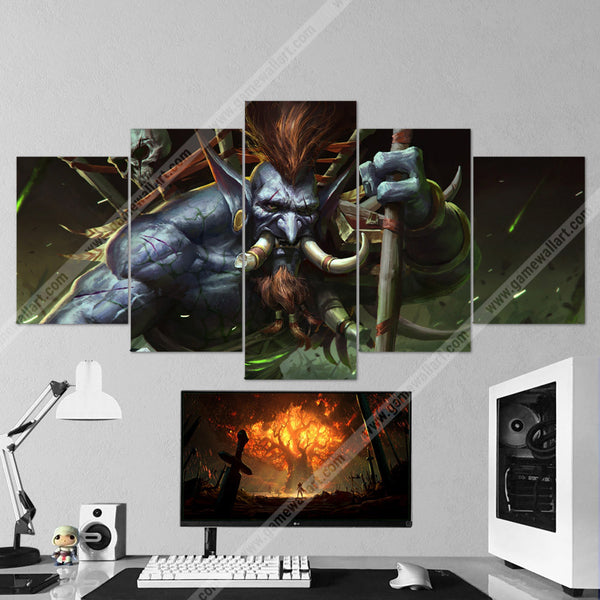 WOW - World of Warcraft 68 Voljin 5 Piece Canvas Wall Art Gaming Canvas