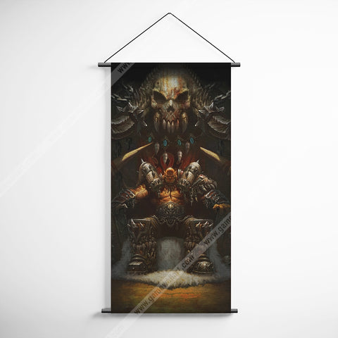 WOW - World of Warcratf 58 Garrosh Hellscream Decorative Banner Flag for Gamers