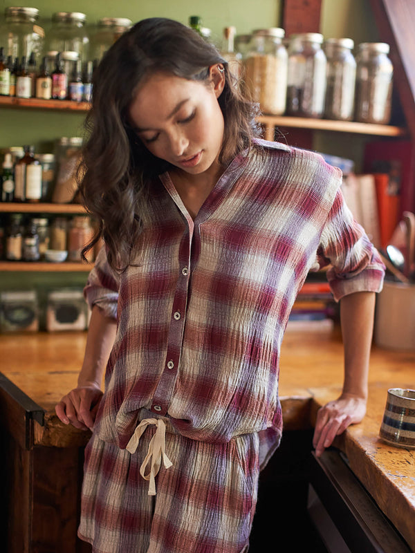 Nikki Button Up - Plaid