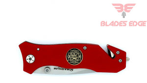 Boker Fire Chief,,440A Steel Blade, G10 Handle, Liner Lock, Manual Thumb Stud, Rescue