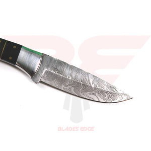 Buck N Bear Mean Green Fighter with G10 Handle and 256 Layer Damascas Steel Blade - Close