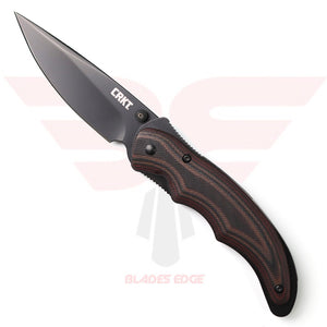 CRKT Endorser with Black/Brown G10 Handle Scales and Drop Point Style 8Cr14MoV Blade Steel