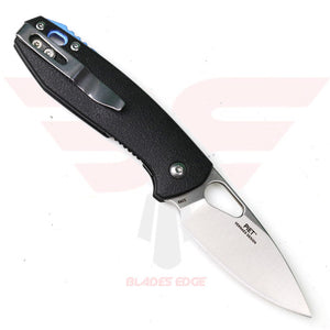 CRKT Piet 5390 with Black GRN Handle and Spear Point Blade Made of 8Cr13MoV Steel, Stainless Steel Pocket Clip