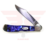 Case Copperlock with Blue Kirinite Handle and Tru Sharp Surgical Steel Blade - Open