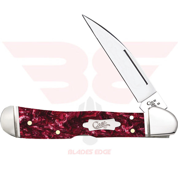 Case Copperlock with Burgundy Kirinite Handle and Tru-Sharp Surgical Steel Blade