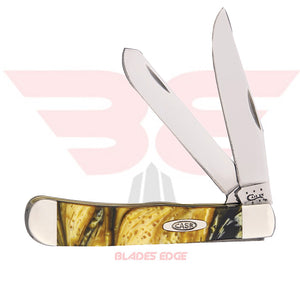 Case Trapper with Gold Corelon handle scales and Tru Sharp Blade