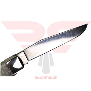 Case Knives Trapper with White Pearl Handle and Tru Sharp Surgical Steel Blade - close