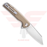 Civivi Brigand model 909B with Tan G10 Handle Scales and Satin Finished D2 Blade - Back