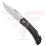 Civivi Rustic Gent in G10  Handle Scales and Carbon Fiber Bolsters with Blade made of D2 Steel in a Satin Finish