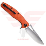 Civivi Wyvern with Orange Fiberglass Reinforced Nylon handle scales and D2 Steel Blade in a Satin Finish - Back