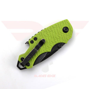 Kershaw Shuffle 8700LIMEBW with GFN handle and 8Cr13MoV acid wash blade - Closed Position View