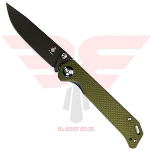 Kizer Begleiter-Green G10 handle scales with VG-10 Blade Steel