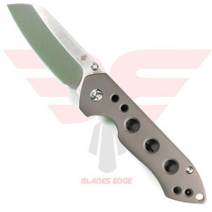 Kizer Guru with titanium handle and CPM S35VN Blade Steel on show side