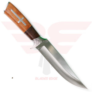 Sharps Cutlery Fancy Hunter with Two Tone Brown Pakkawood Handle and 3Cr13MoV Stainless Steel Blade - Back