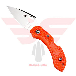 Spyderco Dragonfly with Orange FRN Handle Scales and VG10 Blade.