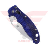 Spyderco Manix Fiberglass Reinforced Co Polymer Translucent Blue with CTS BD1 Blade Steel.  Closed Position
