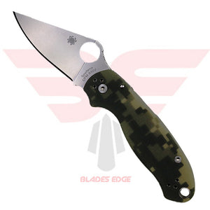 Spyderco Para 3 with G10 Green Camo Handle Scales and CPM S30V Blade Steel