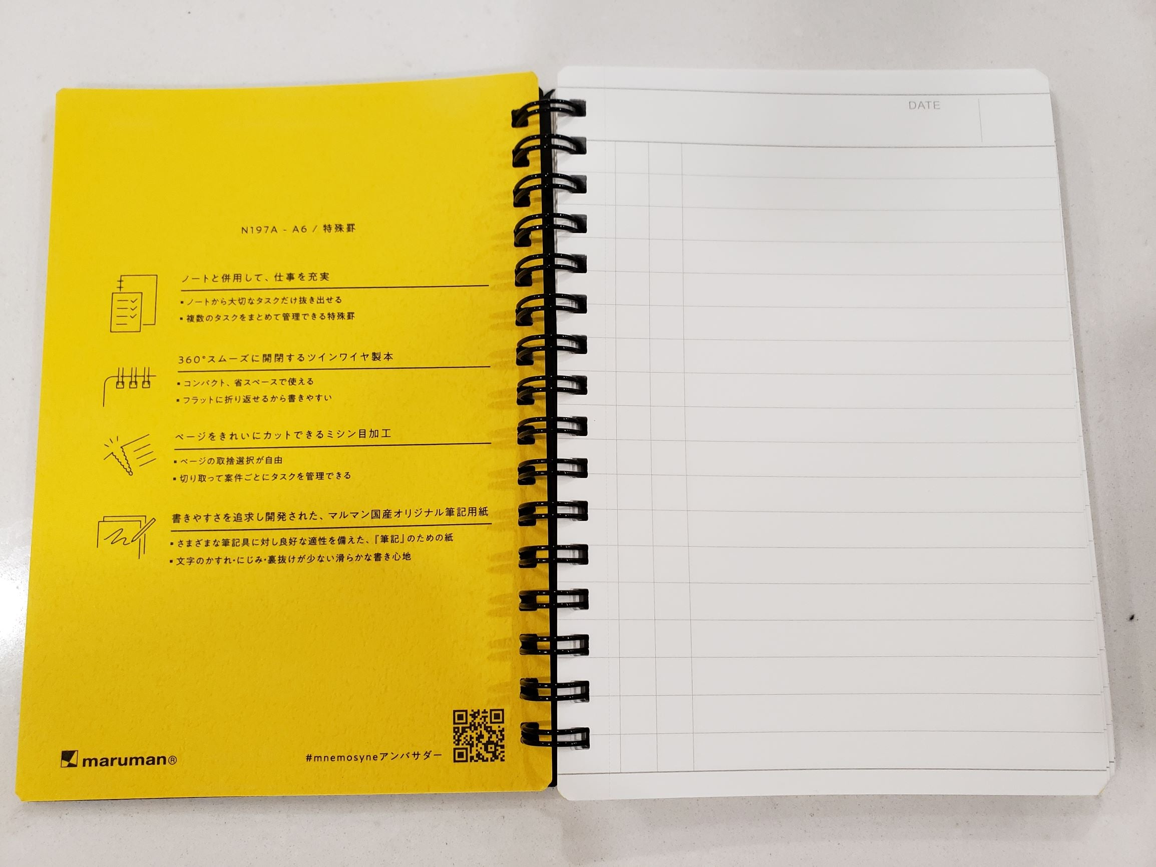 Maruman N197A Today's Act Notebook A6 Pocket Size